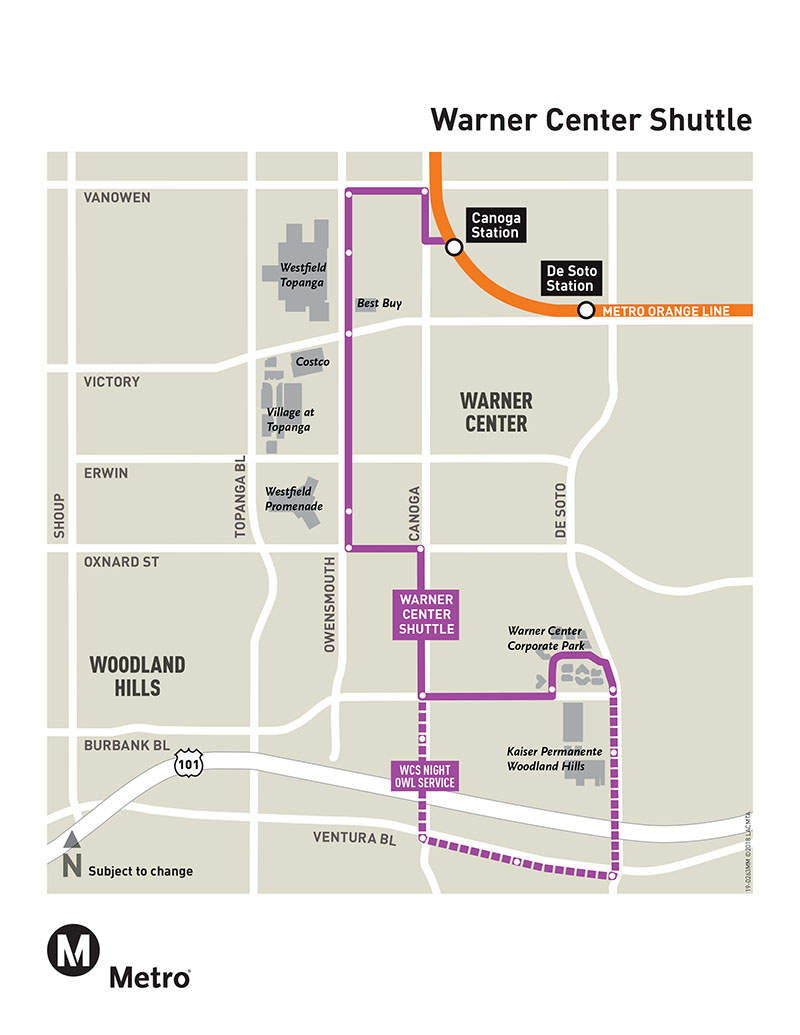 Warner Center Shuttle Schedule