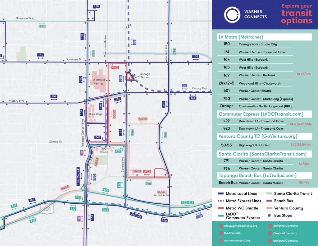 Warner Center Transit Map V6