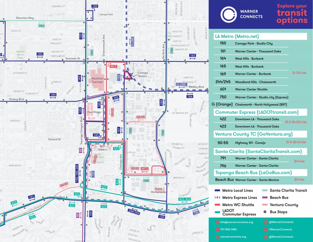Warner Center Transit Map
