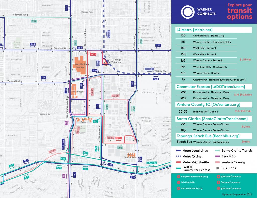 Warner Center Transit Map (Sept 2021)